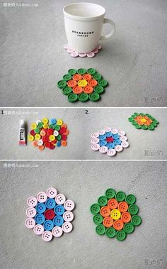 Easy diy crafts, creative crafts, recycled crafts, crafts to sell, fun crafts Easy Diy Crafts, Creative Crafts, Crafts To Sell, Crafts For Kids, Arts And Crafts, Recycled Crafts, Creative Ideas, Diy Buttons, How To Make Buttons