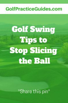 Golf swing tips to help you stop slicing the golf ball. A slice is the number one golf swing fault for beginners. Use these golf tips and golf swing instruction to correct your swing path, for straighter golf shots. Click to read.