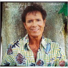 Cliff Richard pin up poster 30 standing against tree