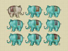 Elephant Art Print by Carina Povarchik | Society6