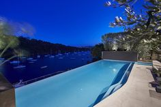 A night swim with a harbour view in Mosman.