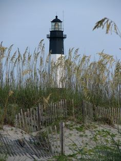 Tybee Island Lighthouse is next to the Savannah River Entrance, on Tybee Island, Georgia. It is one of seven surviving colonial era lighthouse towers, though highly modified in the mid 1800s. by Mary Rennie