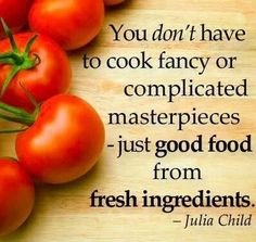 Sage advice from Julia Child