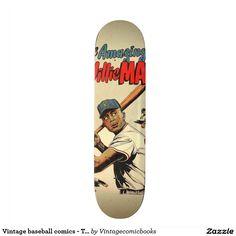 #baseball #vintagecomicbooks #marvel #dccomics #theamazingwilliemays #comicbook Vintage baseball comics - The amazing Willie Mays Skateboard