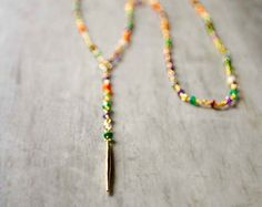 Playa Necklace with Chrysoprase and Freshwater by FlowDesigns