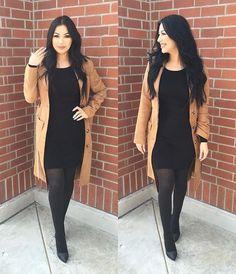 "fabd5d6a90f ᎬᏙᎬᎢᎢᎬ ❥ on Instagram  ""Work flow. ❤  WF  Banker  ----------------------------------- Coat   hm Dress   fashionnova use my  code"