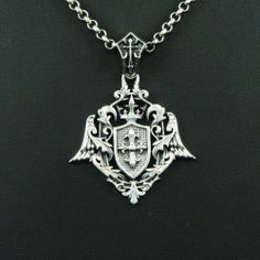 ROYAL CROSS EMBLEM 925 STERLING SILVER Men's Women's BIKER ROCKER PENDANT cs-003
