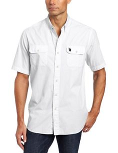 b1647b084f2 Save $18.01 on U.S. Polo Assn. Men`s Solid Poplin Short Sleeve Shirt; only  $27.99 + Free Shipping