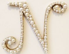 Curly Pearl Monogram Cake Topper Font 2 by AtelierBlueWeddings