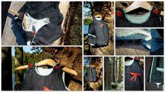 Barboteuse jeans 12 mois : Mode Bébé par daniellemargotcouture