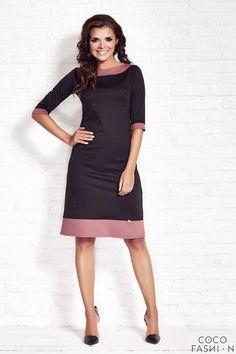 Black Shift Dress with Contrast Edges 0043820f8e