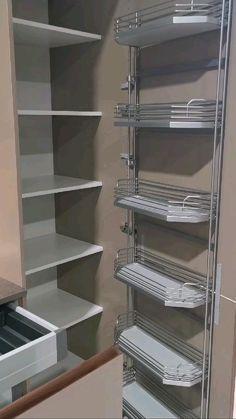 Kitchen Cupboard Designs, Kitchen Cabinet Storage, Kitchen Room Design, Modern Kitchen Design, Home Decor Kitchen, Interior Design Kitchen, Modern Kitchen Cabinets, Grey Cabinets, Kitchen Organization