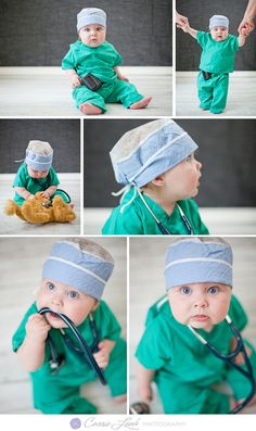 Doctor Scrubs Baby! #6mos #baby #photography