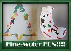 Christmas fine-motor projects