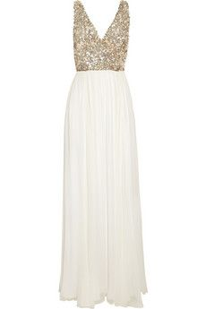 Rachel Gilbert Aria sequined silk-chiffon gown | THE OUTNET