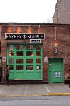 Barber & Supply by F.S.C. Barber - Blizzard day in Brooklyn. — at Barber & Supply - Williamsburg.