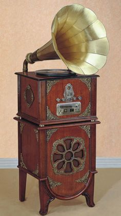 Grammophon Phonograph Sound-machine Neu Retro-music-player Classic Gramophone