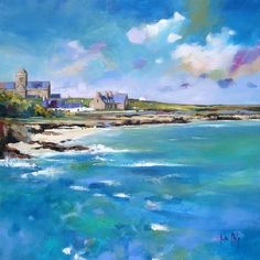 Kate Philp Iona Village Signed Limited Edition Print   Scottish Contemporary Art