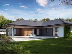 DOM.PL™ - Projekt domu TP Arteo 3 CE - DOM TP2-19 - gotowy koszt budowy House Plans, Garage Doors, Shed, Outdoor Structures, Outdoor Decor, Home Decor, Home Plans, Modern Homes, Lean To Shed