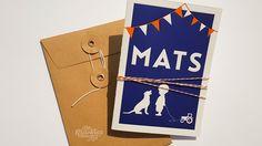 Letterpress geboortekaartje – Mats