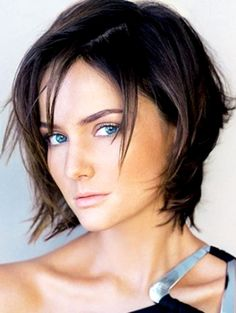 2013 Choppy Layered Short Black Bob Hairstyles