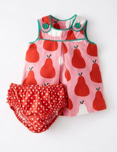 Love this from Boden - Retro Print Pinnie Dress for Baby Girl #KidsFashion