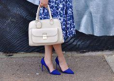 #vintage blue dress #justfab heels