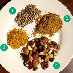 hemp seeds milled flax seed bee pollen nuts sunflower seeds pumpkin seeds lylia rose blog food blogger muesli & porridge toppings
