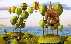Don't know why but I'm drawn to hot air balloons - City in the Sky_Lanscape Format by Teodoru Badiu