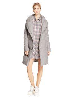DKNYpure Heathered Wool Puffer Coat - DKNY