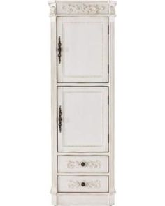 Home Decorators Collection Bath Organizers Chelsea 20 in. W Linen Cabinet in Antique White 1590100410