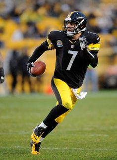 Ben Roethlisberger, Pittsburgh Steelers #7! I have been his BIGGEST FAN SINCE I WAS LITTLE! One day I'm going to write to him before I die.. I don't have much longer to live