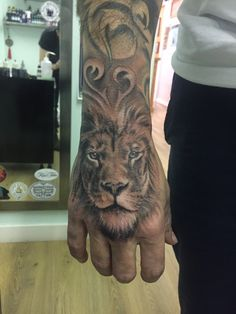 New tattoo Hand, lion