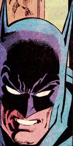 "jthenr-comics-vault: "" COMIC BOOK CLOSE UP B A T M A N BATMAN #421 (July 1988) Art by Dick Giordano (pencils), Joe Rubinstein (inks) & Adrienne Roy (colors) """