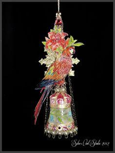 Victorian Christmas Ornament - Tropical Delight. $145.00, via Etsy.