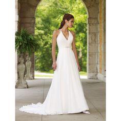 halter top wedding dresses for the beach | Sexy Destination Halter Top V-neck Empire Beach Wedding Dress hiwdmcb8