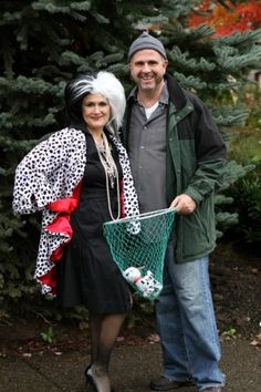 Cruella De Vil and the dog catcher Horace make a great couple for your next Halloween party.