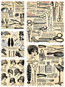 vintage-hairdresser-design-elements-vector