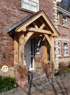 17 Oak Porch on New Building Front Door Design, Front Door Colors, Front Door Decor, Front Doors, Porch Kits, Porch Ideas, Porch Canopy, Porch Doors, Entrance Doors