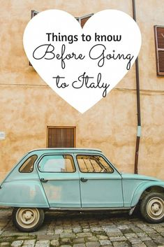 Things to Know Before Going To Italy #italytravel