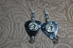 Moon Guitar Pick Dangle Earrings by BaublesbyGwen on Etsy, $10.00