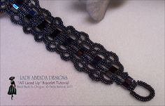 """Beading Tutorials tila bead patterns""""All Laced Up"""" Bracelet INSTANT DOWNLOAD"""