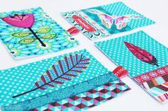 stitchydoo Stoffkartentausch   Meine genähten Karten im September // #fabriccard  #stoffkarte #swap