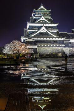 Kumamoto Castle in Kumamoto, Japan.