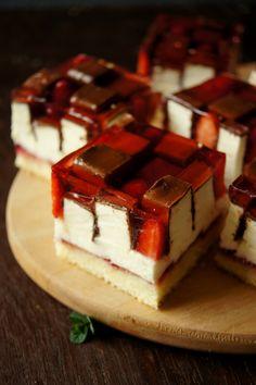 Polish Recipes, Polish Food, Mocha, Tiramisu, Cheesecake, Ethnic Recipes, Kuchen, Strawberries, Polish Food Recipes