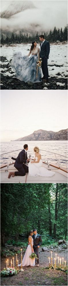 Elopement Ideas for Intimate Weddings #wedding #weddingideas #weddingphotos