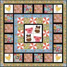 FREE DOWNLOADABLE PATTERN - Blank Quilting Barnyard Bunch. Please email orders at superiorthreads.com to be sent this pattern. It was recently removed from the site.