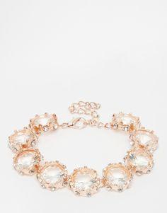 Image 1 ofLove Rocks Rose Gold Crystal Statement Necklace