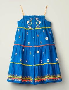 Browse our exciting girls' new in collection. Shop dresses, tops, skirts and more at Boden. Dope Outfits, Girl Outfits, Kids Dress Collection, Blue Dresses, Girls Dresses, Dubai Fashion, Fashion Fashion, Runway Fashion, Fashion Trends