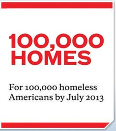 100,000 homes for 100,000 homeless Americans by July 2014